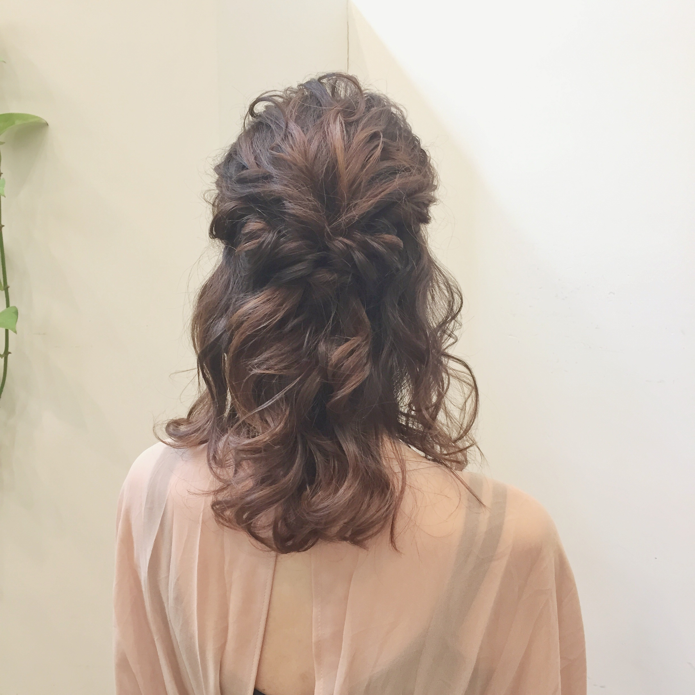 髪型アレンジ ハーフアップ